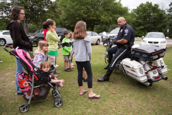Police officer at Children's Festival in North Charles, SC. Photo by Ryan Johnson via Flickr
