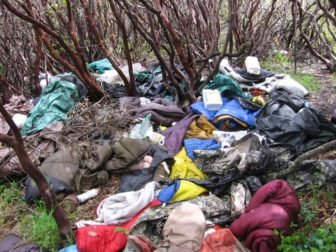 Trash left by illegal pot growers. Photo by James A. Swan