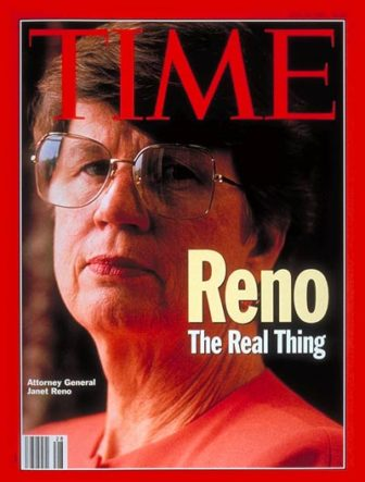 The late attorney general Janet Reno. Illustration by Paladin Justice via Flickr