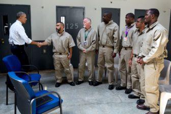 President Obama's historic visit to El Reno Correctional Facility, Oklahoma, July 16, 2015. Photo courtesy White House