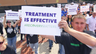 "Marchers at Michigan ""Celebrate Recovery Palooza,"" Sept 2014. Photo by Sacred Heart via Flickr"