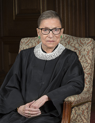 Justice Ruth Bader Ginsberg. Photo courtesy US Supreme Court via Flickr