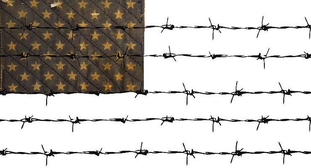 barbed wire flag