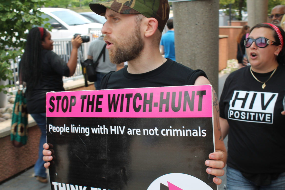 AIDS protest