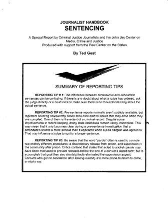 PART 2 CJJ handbook SENTENCING | The Crime Report