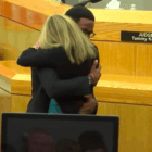 courtroom embrace